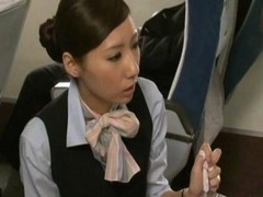 Asian, Handjob, Japanese, American stewardess, Gotporn.com