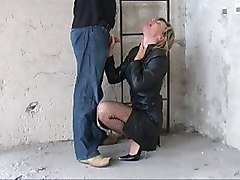 Leather, German, Heels, Interracial leather, Xhamster.com