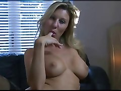 Blonde, British, Tease bedroom stockings heels solo, Xhamster.com