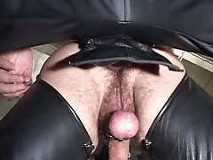 Bus, Leather, Big tits leather, Xhamster.com