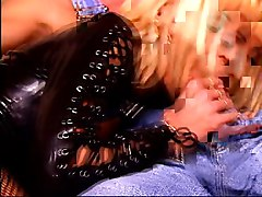 Blonde, Leather, Anita blond brothel threesome, Xhamster.com