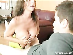 Masturbation, Jerking, Girlfriend, Daughter and mom blindfold dad to share, Pornhub.com