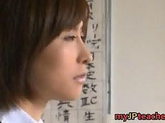 Asian, Japanese, Teacher, Mature japanese teacher fucks a shy student, Gotporn.com