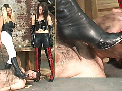 French mistress whipping her slave, Xhamster.com