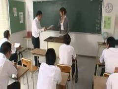 Asian, Japanese, Teacher, Secondary students with the teacher, Drtuber.com