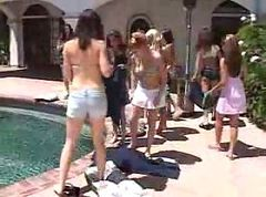 Pool, Lesbian, Orgy, Sleeping by the pool sex, Gotporn.com