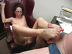 Glasses, Footjob, Ass, Japanese girl in stocking 61-2, Xhamster.com