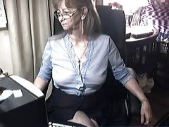 Granny, Glasses, Ass, Granny hairy anal fucking, Xhamster.com