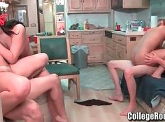 College, Teen, Orgy, College threesome, Gotporn.com