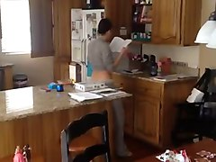 Kitchen, Caught, Daughter caught mom fucking brother, Xhamster.com