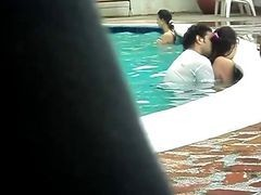 Pool, Couple, Big orgy at the pool blowjob oral, Xhamster.com