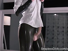 Latex, Strapon, Orgy prostate massage and strapon cum, Xhamster.com