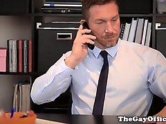 Office, Fat chick fucked by two guys in office, Xhamster.com