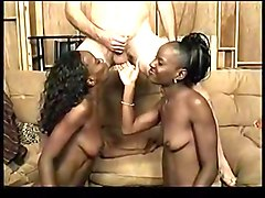 Ebony, Twins, Twin facial, Xhamster.com