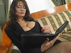 Bus, Secretary, Mature, Fuck mature mom, Drtuber.com