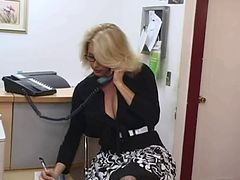Secretary, Big Tits, Mature, Mature teacher, Xhamster.com