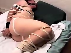Tied, Sister masturbates and teases him with pussy, Pornhub.com