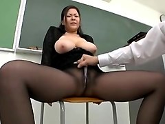 Japanese teacher shows off her pussy, Xhamster.com