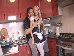 Anal, Blonde, Maid, Maid watches man wank, Xhamster.com