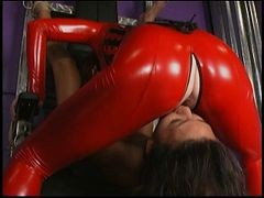 Latex, Group orgy in latex, Xhamster.com