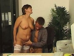 Granny, Office, Stockings, Fucking hairy grannys, Xhamster.com