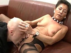Granny, Hairy, Black, German short hair threesome, Xhamster.com