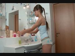 Bath, Bathroom, Cute, Bathroom blowjob, Xhamster.com