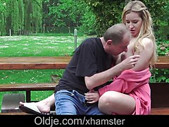 Blonde, Ass, Russian, Old man fuckes young russian girl, Xhamster.com
