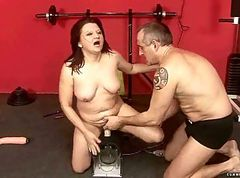 Sybian, Riding sybian and sucking, Gotporn.com