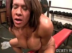 Gym, Girl gets fucked in gym class with tights, Xhamster.com
