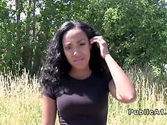 Ebony, Public, Real student fucked in public, Txxx.com