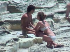 Couple, Beach, Shy, Beach couple, Xhamster.com