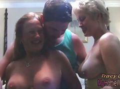Threesome, Licking his ass cum threesome, Xhamster.com