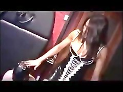 Mistress and shemale dominate male slave, Txxx.com