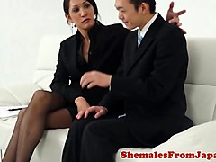 Stockings, Japanese office girl gets fucked, Txxx.com