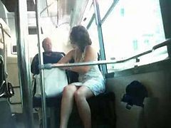 Bus, French, Upskirt, Drunk bus, Xhamster.com