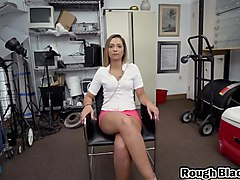 Blonde, Office, Cute april o neil fucked in office, Txxx.com