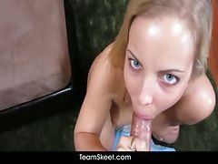 Bus, Blowjob, Swallow, Naughty ally cum swallow, Drtuber.com
