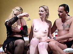 German, Couple, Swallow, Creampie german, Nuvid.com