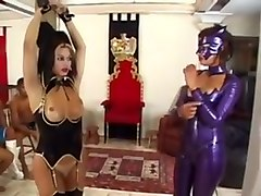 Latex, Shemale, Dominant mistress in rough ffm, Txxx.com