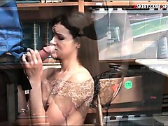 Office, Babe, Caught, Caught stealing abused, Nuvid.com
