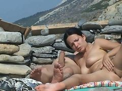 Couple, Beach, Couple fucking on the beach, Xhamster.com