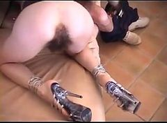 Anal, Hairy, Blond granny hairy creampie doggystyle, Tube8.com