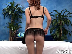 Massage, Ass, Lingerie, Blonde black girl rides black cock, Nuvid.com