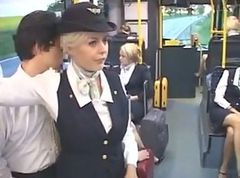 Bus, Stewardess, Air line stewardess sex, Tube8.com