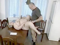 Chubby, German, Milf, German milf gets fucked on the couch, Xhamster.com