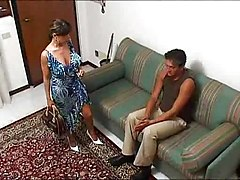 Bus, Housewife, Italian, Horny housewife seduces young babysitter, Xhamster.com