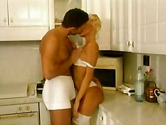 Babe, Kitchen, Maid, Horny wife gets some in kitchen, Xhamster.com