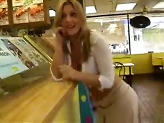 Blonde, Flashing, Public, Girls flashing in stores and restaurants, Pornhub.com