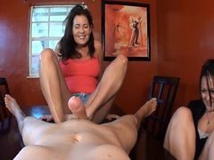 Mom, Footjob, Teen giving footjob and getting anal, Xhamster.com